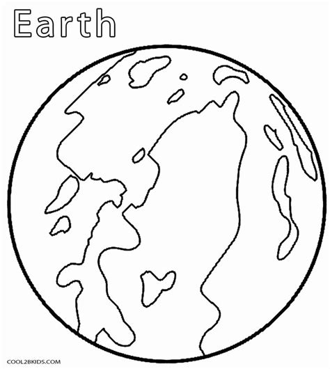 coloring page the earth printable planet coloring pages for kids cool2bkids