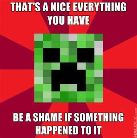 Minecraft Creeper Memes - creeper meme minecraft picture