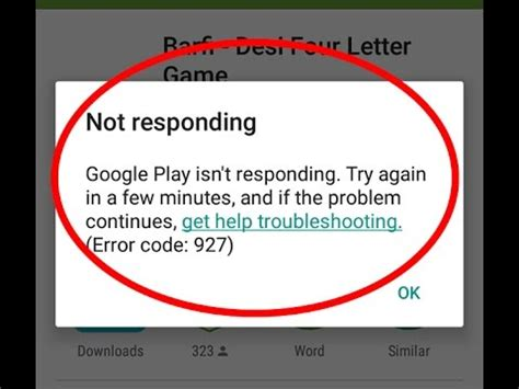 Why Play Store Isn T Working How To Fix Play Isn T Responding Error Code 927 In