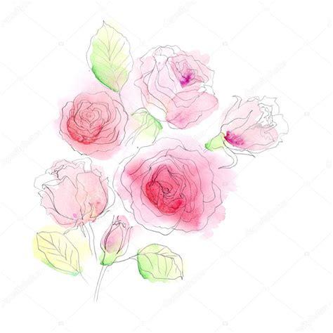 fiori dipinti ad acquerello fiori dipinti ad acquerello foto stock 169 guzanna 64806787