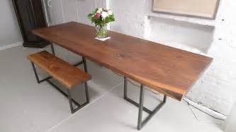 bench wooden dining table floating stairs