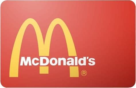 Gift Cards Mcdonalds - 50 mcdonald s gift card for 44 ebay com