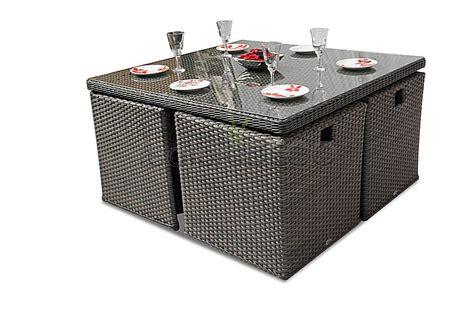 Rattan Cube Furniture Deluxe Garden Outdoor Set Brown 8 Seater