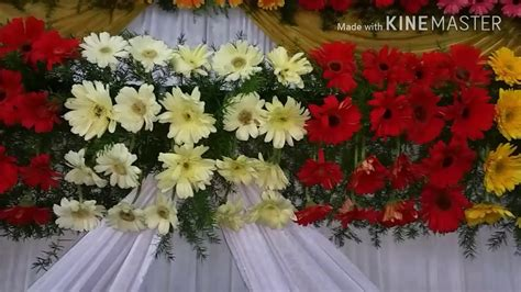 floral decoration marriage wedding flowers stage decoration video s youtube