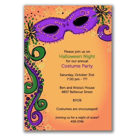 mardi gras invitations mardi gras party pinterest