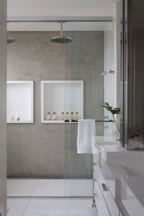 concrete bathrooms industrial loft living on pinterest concrete bathroom