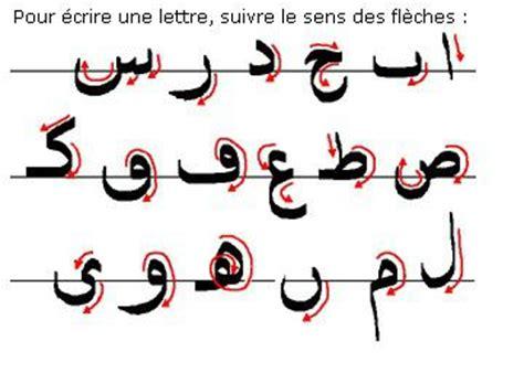 arabo lettere apprendre l alphabet dans la