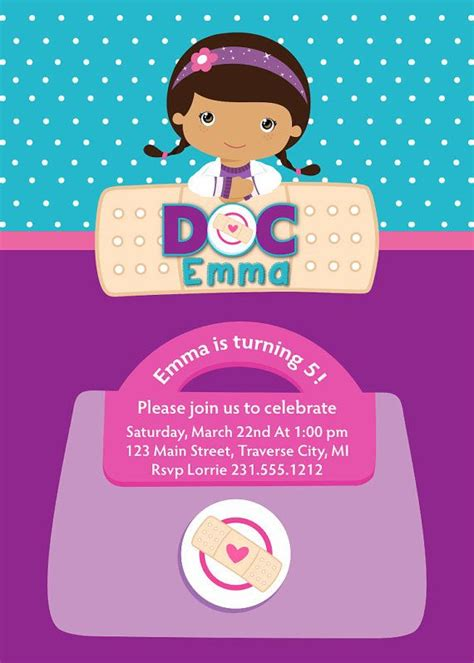 doc mcstuffins invitation template doc mcstuffins invitation doc mcstuffins birthday
