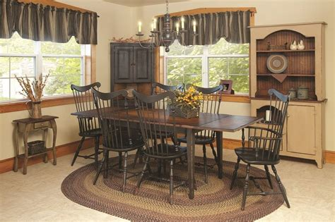 Country Dining Room Table Primitive Dining Table Chairs Set Farmhouse Furniture Harvest Country Kitchen Ebay