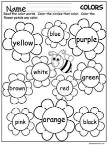color words flower color words worksheet madebyteachers