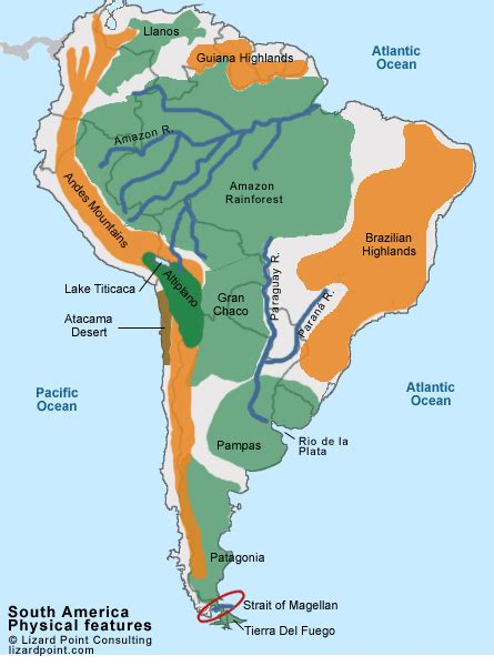 physical feature map of south america test your geography knowledge south america physical