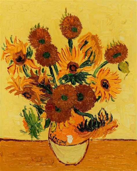 Fourteen Sunflowers In A Vase by Expensive Paintings Gallery Ebaum S World