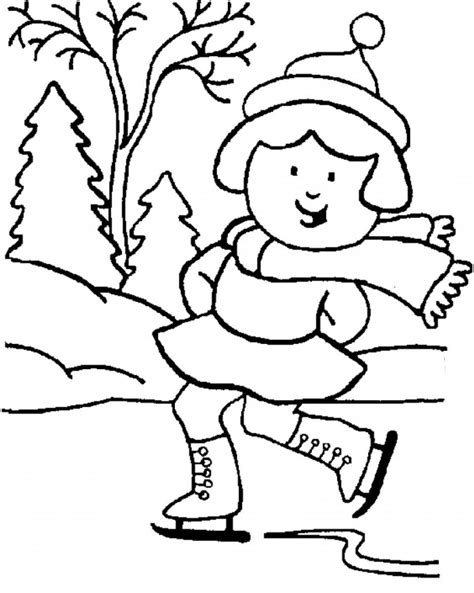 coloring pages winter free sketches of winter scenes coloring pages