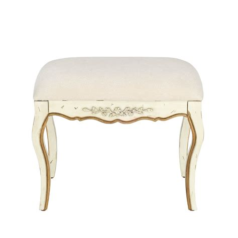 white vanity bench shop safavieh american home white indoor vanity bench at