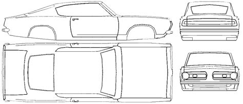 How To Draw Blueprints car blueprints plymouth barracuda fastback blueprints