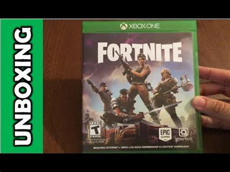 fortnite xbox fortnite xbox one unboxing