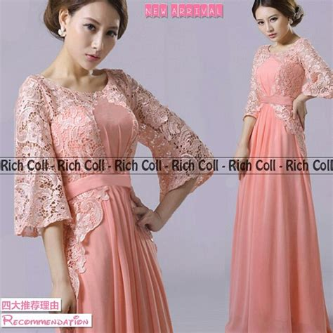 Dress Lenovela Dress Salem Dress Pesta Dress Brukat baju gaun dress brukat cantik terbaru murah