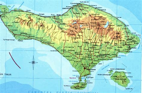 map of bali amazing indonesia bali map