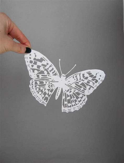 Butterflies Out Of Paper - butterfly paper cut intricate white butterfly