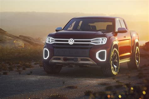 volkswagen truck concept vw unveils atlas tanoak truck concept for the u s