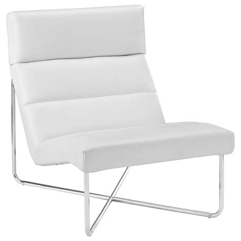 Modern White Lounge Chair by Roanoke Modern White Lounge Chair Eurway Furniture