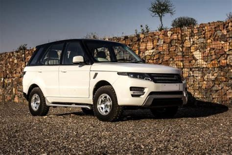 land rover tata tata safari modified into a range rover evoque