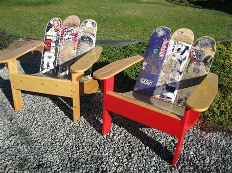 how to make a skateboard bench buy hand made adirondack chair from repurposed skateboards