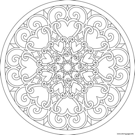 heart mandala sb294 coloring pages printable