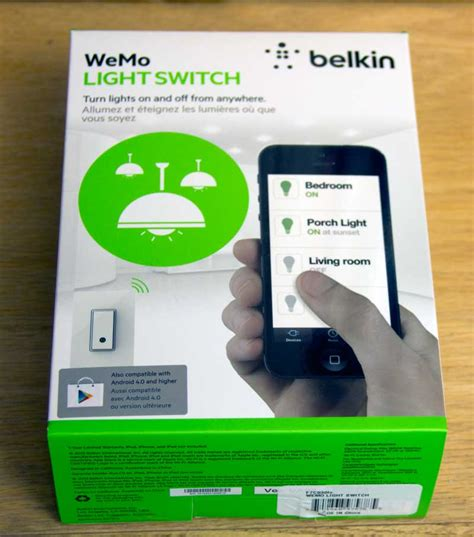 smart light switch wifi belkin wemo light switch review a smart and simple solution