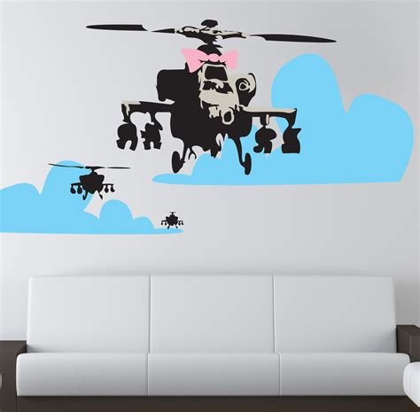 banksy wall stickers banksy happy choppers wall sticker