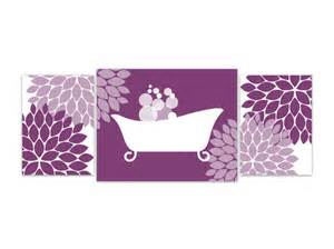 Purple Wall Decor by Items Similar To Bathroom Wall Purple And White