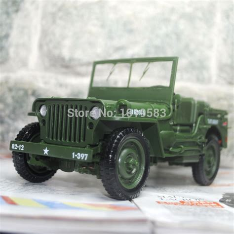New Item Diecast Miniatur Mobil Jeep Willys Army Diecast Pajangan kaidiwei 1 18 scale world war ii u s army willys jeep diecast metal car model new in box