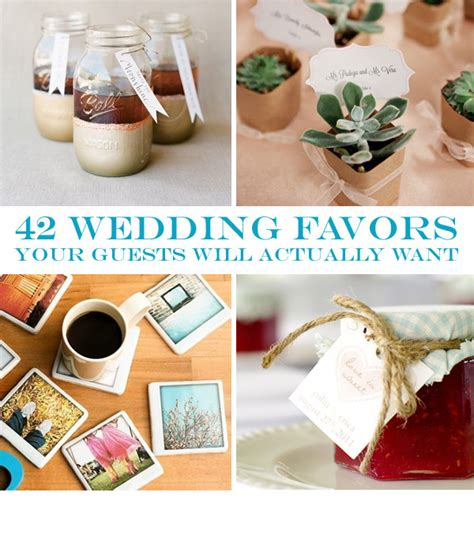 Useful Wedding Giveaways - 42 wedding favors your guests will actually want