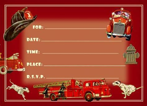 17 Best Images About Firefighter Birthday Party On Pinterest Fireman Cake Birthday Cakes And Firefighter Invitation Templates