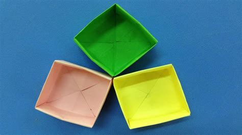 How To Make Easy Crafts With Paper - how to make a paper box easy origami box for beginners