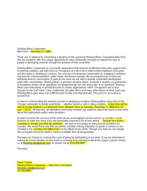 sample donation request letter profit templates