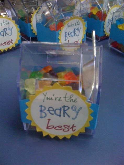thank you letter for team gift thank you gift fill containers with gummy bears and