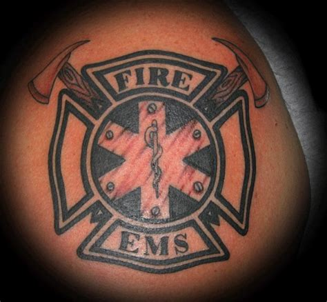fireman cross tattoo maltese cross ems maltese cross