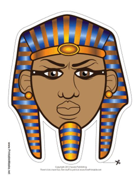 pharaoh crown template printable pharaoh mask mask