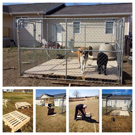 Pallet project #1  kennel sub flooring Pallets are placed