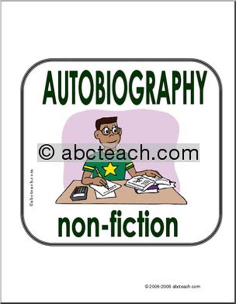 genre of biography sign books by genre autobiography non fiction abcteach