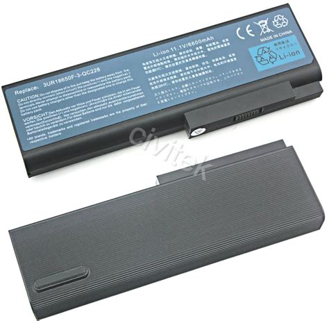 Baterai Acer 5000 Travelmate 8200 Travelmate 8210 9cell battery for acer 5000 travelmate 8200 8210 3ur18650f 3 qc228 c11