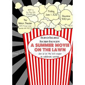 movie popcorn printable invitation dimple prints shop