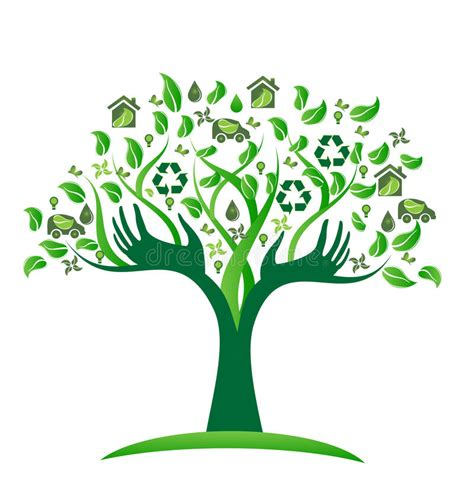Ecology Green Icons Tree With Logo Vector Stock Vector Image 51156431 Ecology Green Icons Tree With Hands Logo Vector Stock Vector Image 51156431