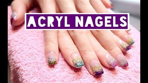 Glitter Acrylnagels by Acryl Nagels Zetten Glitter En Kleur Harmsen