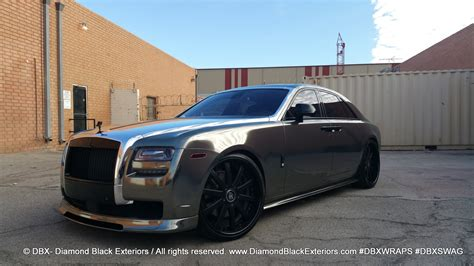 roll royce chrome project rolls royce ghost by dbx wrapped in two tone