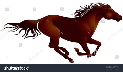 mustang horse running mustang horse vector