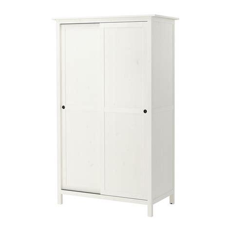 hemnes armoire 2 portes coulissantes teint 233 blanc ikea