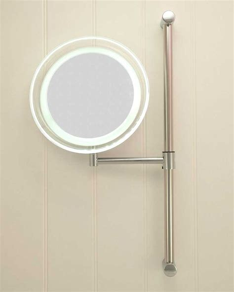 led battery operated bathroom mirrors battery operated round led vanity mirror bathroom lights pinterest