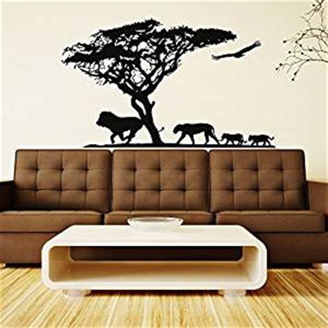 Safari Wall Decor For Living Room by Safari Wall Decal Jungle Animals Wall